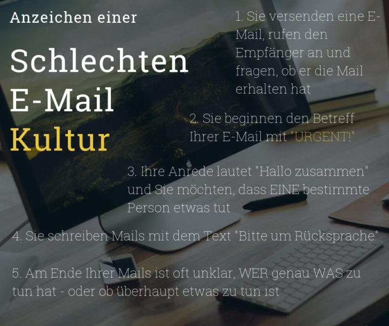 Schlechte E-Mail Kultur
